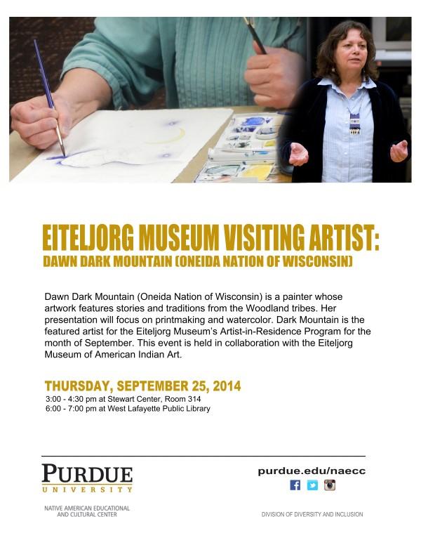 Eitlejorg Museum Visiting Artist: Dawn Dark Mountain - PURDUE